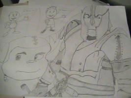 Ratchet, clones and a warrior by zeustacos