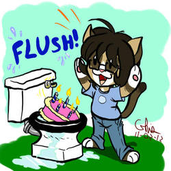 Happy cake flushing day! by BD-Ghis