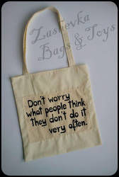 Eco Bag - Don't worry by Zashevka