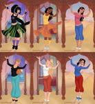 Danny Phantom Girls as Indian Dancers by TheLuLu99