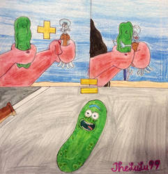 Pickle + Squidward = Pickle Rick by TheLuLu99