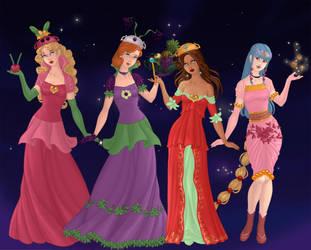 Nintendo Princesses as Goddesses AnutDraws Style by TheLuLu99