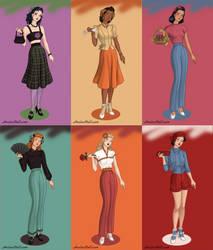 1940's Danny Phantom Girls by TheLuLu99