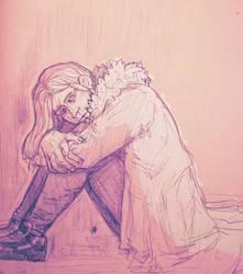 Depressed man (doodle) by GeorginoschkaVincen