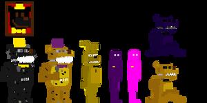 My fnaf 4 minigames style animatronics #2 by Kero1395