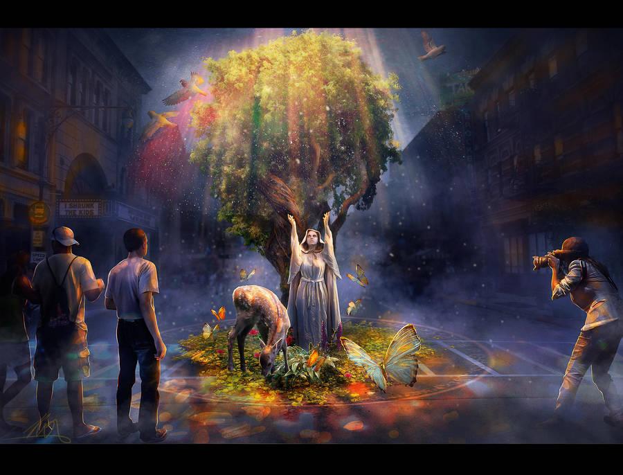 Druid in the city by AlexanderKorolev