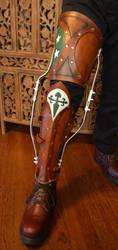 Pseudo-Edwardian Leg Brace by SavagePunkStudio