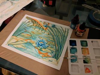 lotus on the pond by SkiethWebb