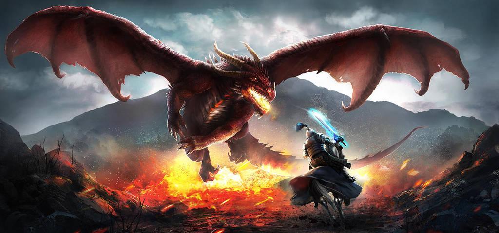 Dragon Scene by Oana-D