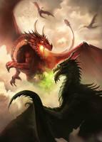 Dragon fight by Oana-D