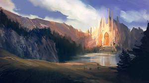 some fantasy scene by Oana-D