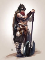 Barbarian- character sketch by Oana-D