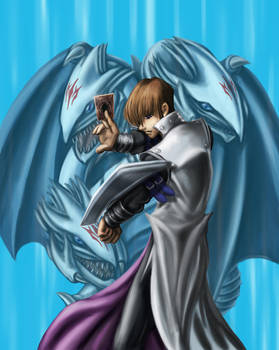 Seto Kaiba and Blue Eyes by Generic-Dreamers