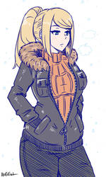 samus is ready for winter by akairiot