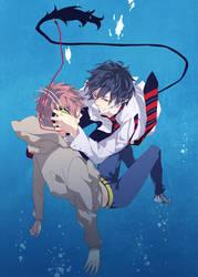 diving down by tsubakiya