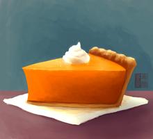 pumpkin pie by Grecia-Frangos