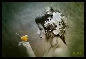 Golden Bird by Pantoja