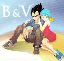 Bulma and Vegeta by longlovevegeta