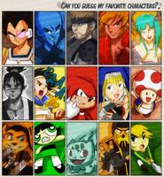 Favorite Characters Meme by longlovevegeta