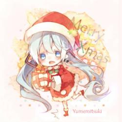 Xmas miku by Yumemitsuki