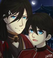 Tourabu: Kanesan and Kunihiro by Zerii-chan