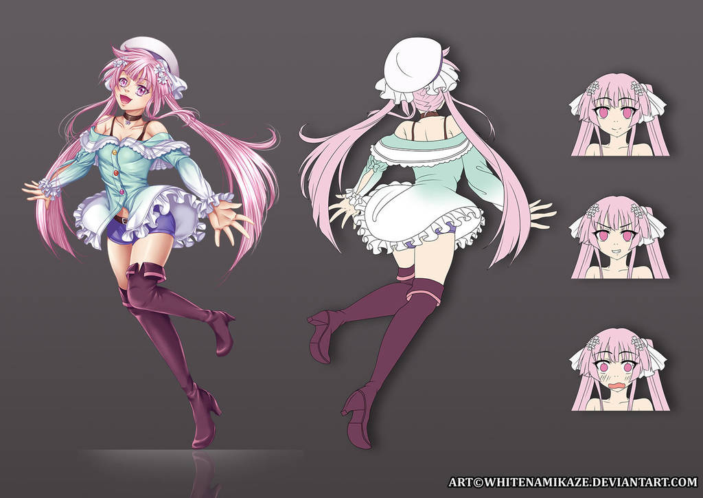 COMMISSION  - Sakura Kirishima Character Sheet by WhiteNamikaze