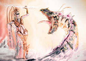 Leviathan against Shiva by never-over-strange