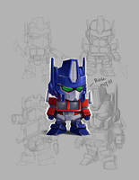 SD Optimus Prime style test by geeshin