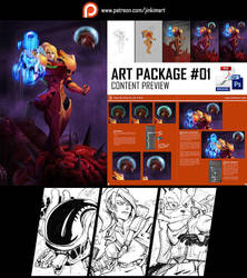 Art Package #01 Content Preview by geeshin