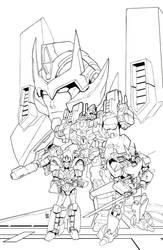 IDW Transformers Lost Light #5 Line Art by geeshin