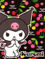 Kuromi and cherries by CheekynCharming22