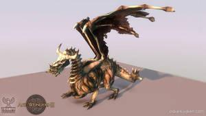 Age of Wonders 3 Bone Dragon by OskarKuijken