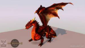 Age of Wonders 3 Fire Dragon by OskarKuijken