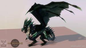 Age of Wonders 3 Obsidian Dragon by OskarKuijken