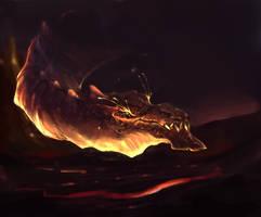 Quad Dragon Set Nr1, Lava Lurker by OskarKuijken