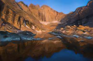 Environment Study Long Peaks by OskarKuijken