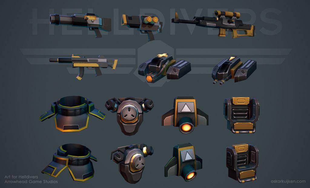 Helldivers - Equipment by OskarKuijken
