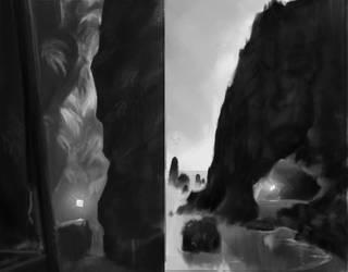 Environment sketches by OskarKuijken