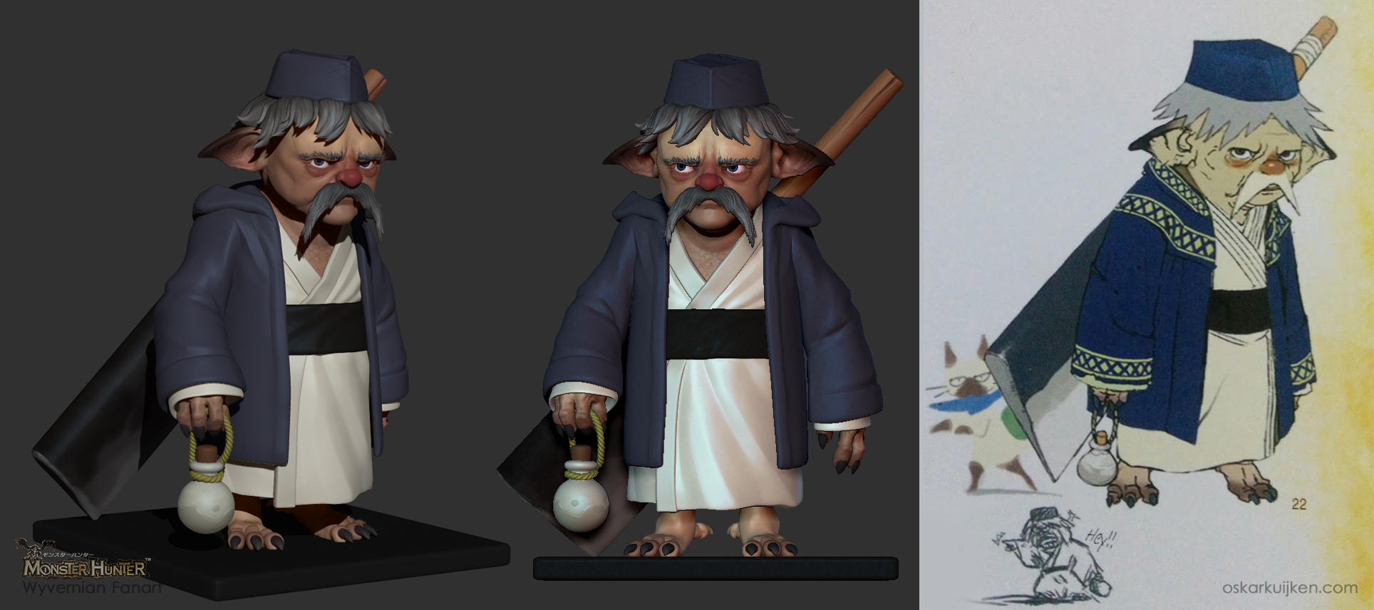 Sushi Chef Sculpt - Monster Hunter by OskarKuijken