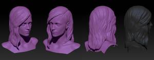 Zombie Girl's Head by ivilai