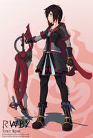 RWBY - Ruby Rose - KH3 outfit CrossOver by Essynthesis