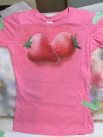 Airbrushed Strawberry T-Shirt by aisemicr