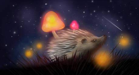 Hedgehog's Night by Vanelia27