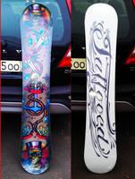 Tattooed Snowboard by TimHag