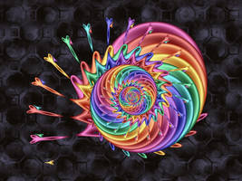 Spiral with scissors by pinkal09