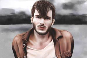 Male Portrait - David Hopkins by crushtested