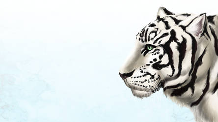 White Tiger Wallpaper by addleses