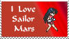 I love sailor mars stamp by princessfromthesky