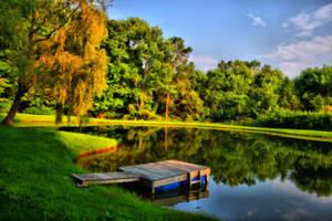 Private Pond by Seanjhalpin