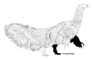 Feathered Therizinosaurus Line Art [FREE] by IrritatorRaji